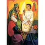 Jesus teaching in the temple - Banner
