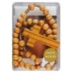 Olive Wood Bead Rosary (CBC62539)