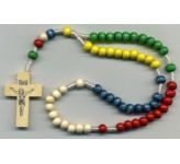 Wooden Bead Rosary (CBC6021)
