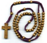 Wooden Bead Rosary (CBC6023)