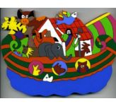 Noah's Ark (3) Cut Out Plaque