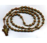 Wooden Bead Rosary (CBC6033)