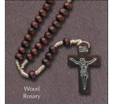 Brown Wood Rosary (CBC6022)