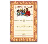 Certificate - First Holy Communion (FHC9)