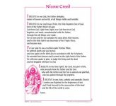 Certificate - Nicene Creed / Pack 10 - REVISED EDITION