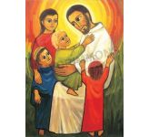 Jesus blesses the children - Banner
