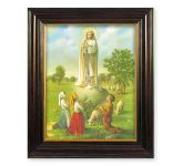 Our Lady of Fatima Mahogany Framed Picture