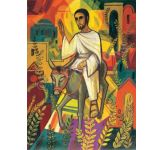 Jesus enters Jerusalem - Banner
