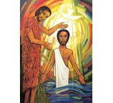 Jesus baptised by John - Banner