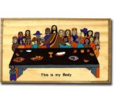 Last Supper/ This is my Body Plaque