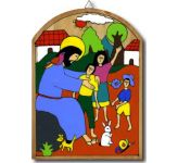 Jesus Blesses the Children (2) Plaque