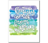 What is Beauty: Beauty comes from within - Banner BAN667