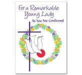 For a Remarkable Young Lady as You Are Confirmed Card (CB1898)