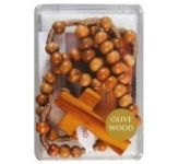 Olive Wood Bead Rosary (CBC62538)