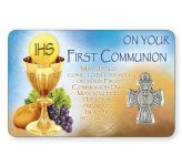 First Holy Communion Card/Medal Pk6 (CBCC71754)