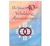 40th Wedding Anniversary Card (CL1778)