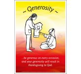 Core Values: Generosity Poster