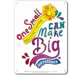 Be the Change: One small positive change... Display Board 654