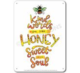 What is Beauty: Kind words are like honey, sweet to the soul - Display Board 674