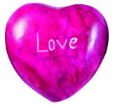 Message Stone: Love Heart (Pink)