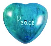Message Stone: Peace Heart (Blue)