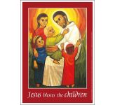 Jesus blesses the children Message Poster