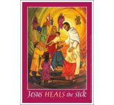 Jesus heals the sick Message Poster