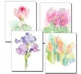 Floral Watercolor Assortment Petite Notes (PNV)