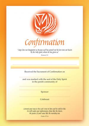 Certificate - Confirmation (A4)