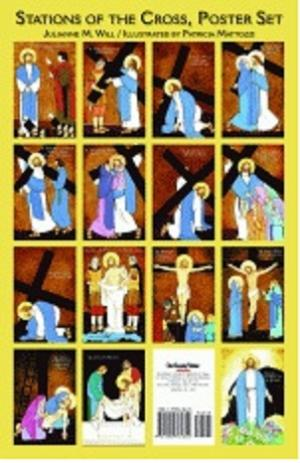Stations Of The Cross For Children From O S V Poster Set