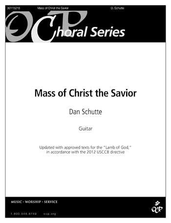 Mass Of Christ The Savior Guitar Melody Accompaniment Book