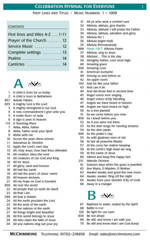 Laudate hymn book list of hymns