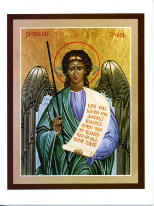 Guardian Angel Icon Greeting Card - Pk10 - CA5107