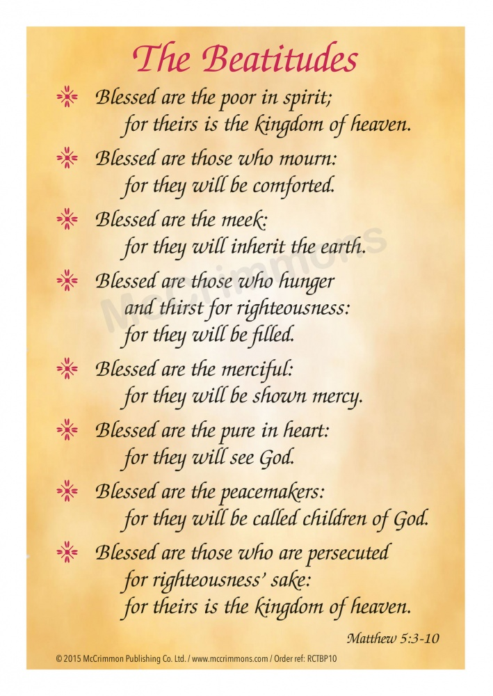 card the beatitudes pack of 10 a5