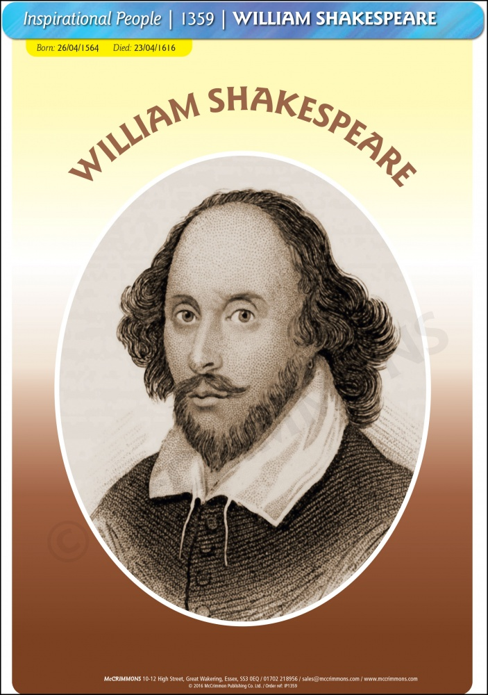 William Shakespeare Poster A3 Ip1359