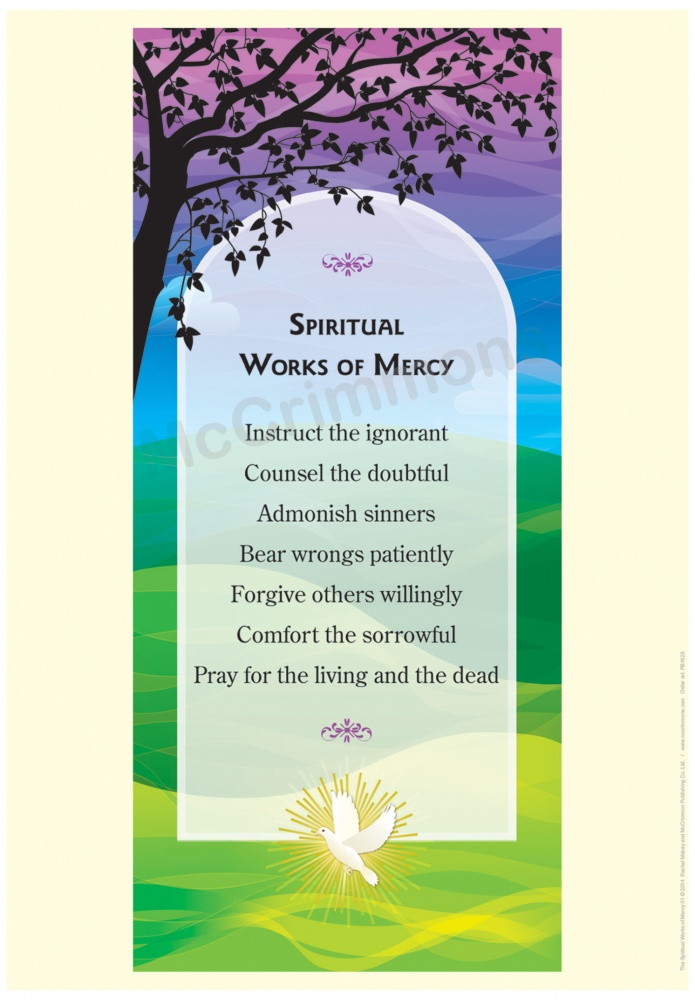 Spiritual Works Of Mercy A3 Poster Pb1628