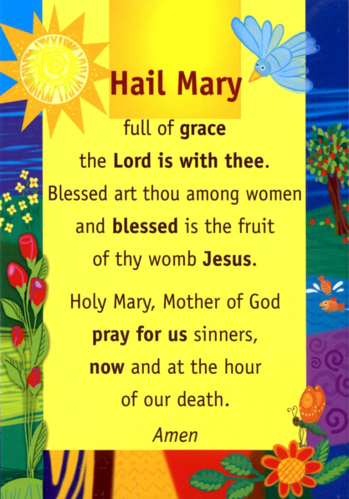 hail mary prayer coloring pages for children - photo #49