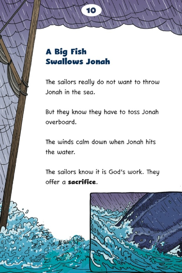 Jonah and the big fish big book for Big fish book